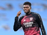Thomas Partey pictured in Arsenal gear on October 17, 2020