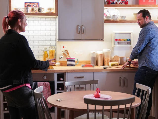 Tina and Mick on EastEnders on October 26, 2020