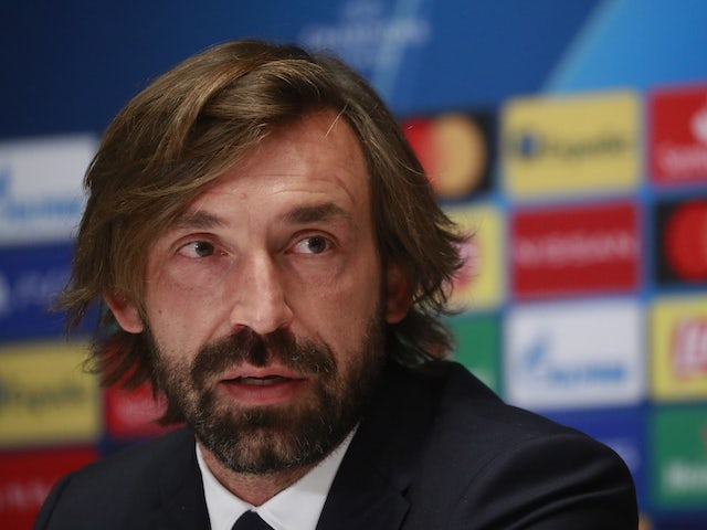 Juventus head coach Andrea Pirlo pictured on October 19, 2020