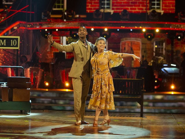 Caroline Quentin and Johannes Radebe on Strictly Come Dancing week one on October 24, 2020