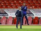 Nottingham Forest manager Chris Hughton pictured on October 20, 2020