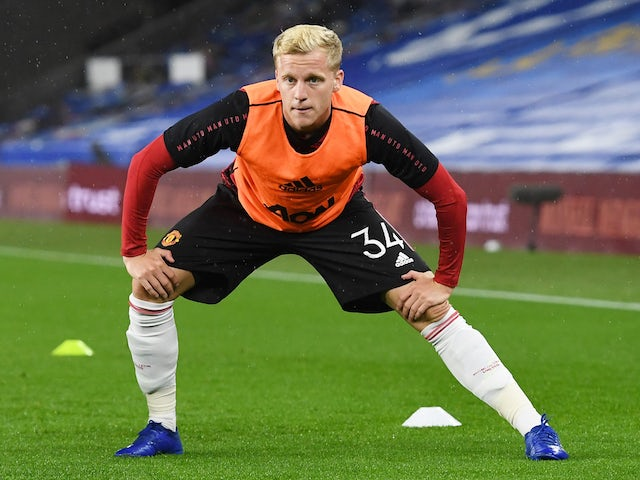 Manchester United's Donny van de Beek pictured in September 2020