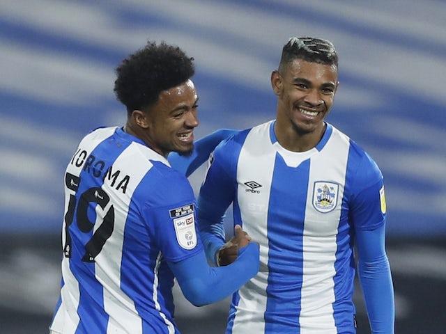 Huddersfield Town's Juninho Bacuna celebrates scoring against Derby on October 20, 2020