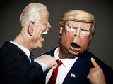 Joe Biden and Donald Trump on Spitting Image