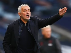 Tottenham Hotspur manager Jose Mourinho shouts during his side's Premier League clash with West Ham United on October 18, 2020