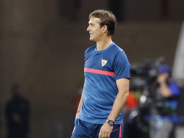 Sevilla manager Julen Lopetegui pictured in September 2020
