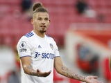 Kalvin Phillips pictured in action for Leeds in September 2020