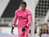 Newcastle United goalkeeper Karl Darlow pictured in October 2020