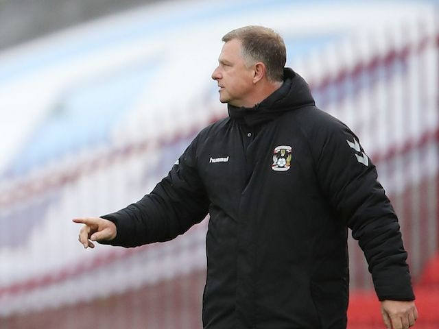 Coventry City manager Mark Robins pictured in September 2020