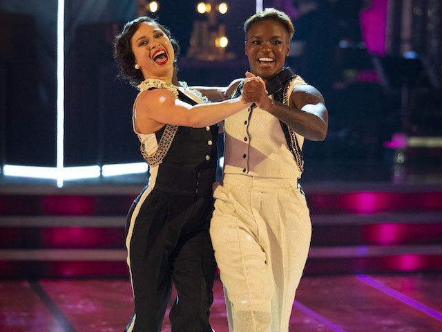 Nicola Adams and Katya Jones on Strictly Come Dancing week one on October 24, 2020