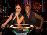 Nicola Adams and Katya Jones on the Strictly Come Dancing launch show on October 17, 2020