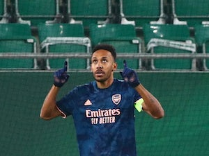Pierre-Emerick Aubameyang hits winner as Arsenal come from behind to beat Rapid Vienna