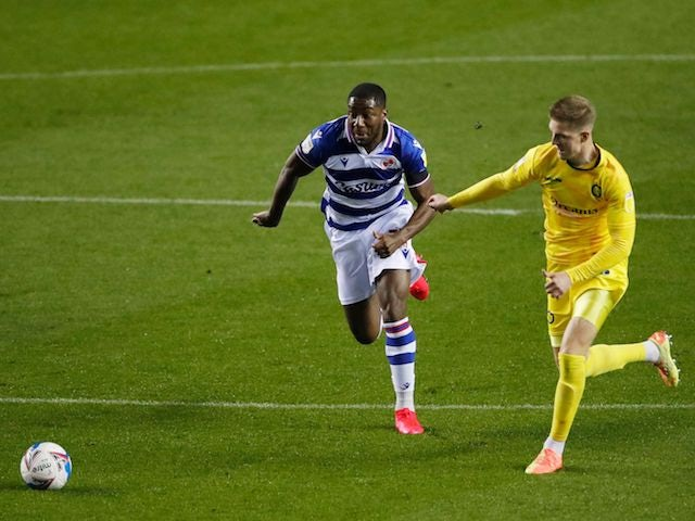 Reading's Yakou Meite in action against Wycombe Wanderers on October 20, 2020