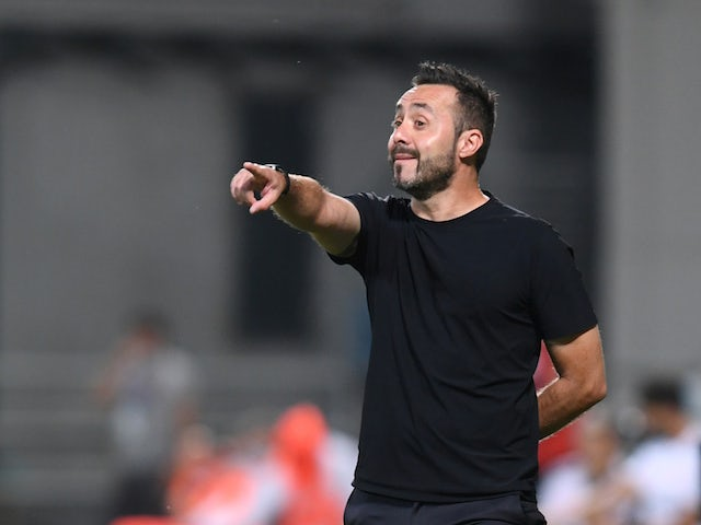 Sassuolo manager Roberto De Zerbi pictured in July 2020
