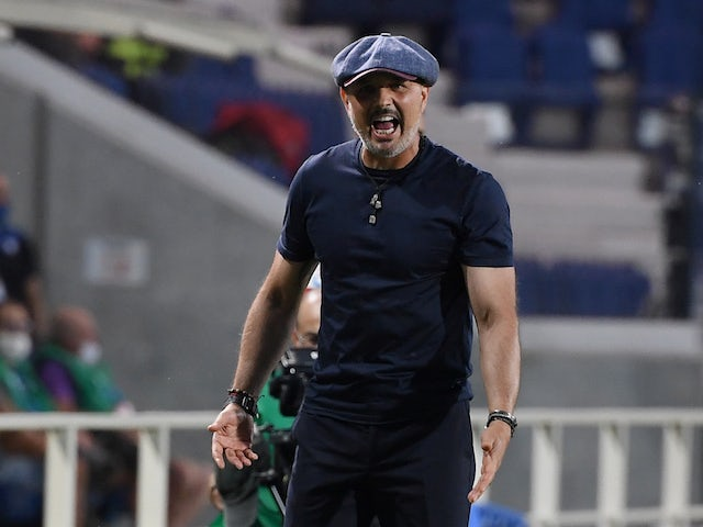 Bologna manager Sinisa Mihajlovic pictured in July 2020