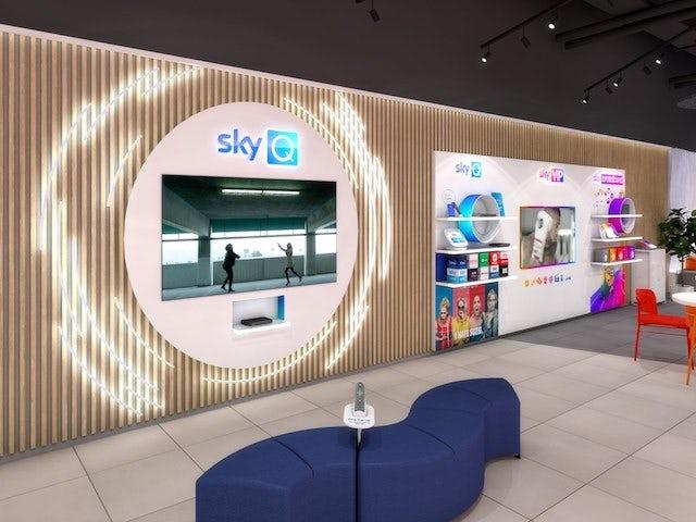 Sky stores interior