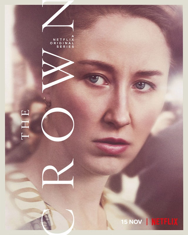 Princess Anne on the poster for The Crown season four