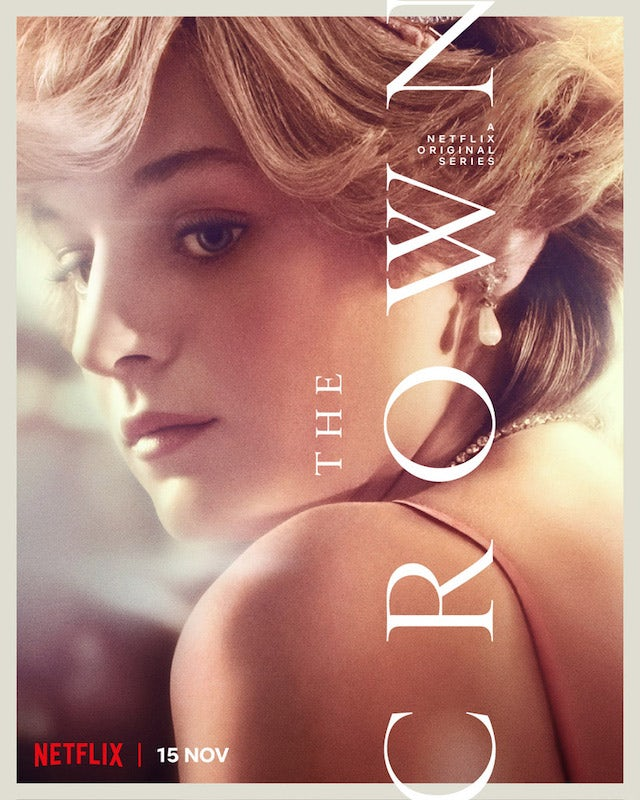 Princess Diana on the poster for The Crown season four