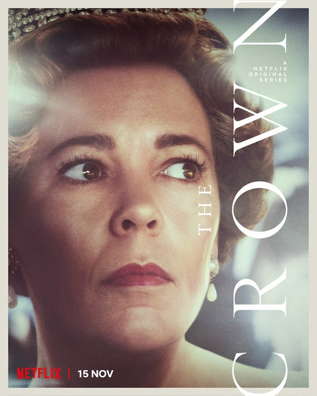 The Queen on the poster for The Crown season four