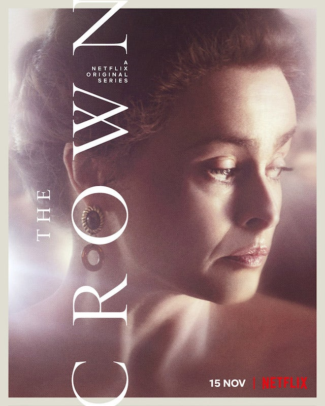 Princess Margaret on the poster for The Crown season four