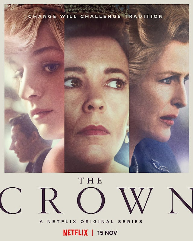 The main poster for The Crown season four