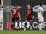 Bournemouth's Rodrigo Riquelme celebrates scoring against Derby on October 31, 2020
