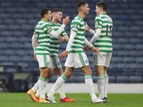 Celtic's Mohamed Elyounoussi celebrates scoring against Aberdeen on November 1, 2020