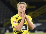Erling Braut Haaland in action for Borussia Dortmund on October 24, 2020