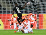 Borussia Monchengladbach's Marcus Thuram scores against Real Madrid in the Champions League on October 27, 2020