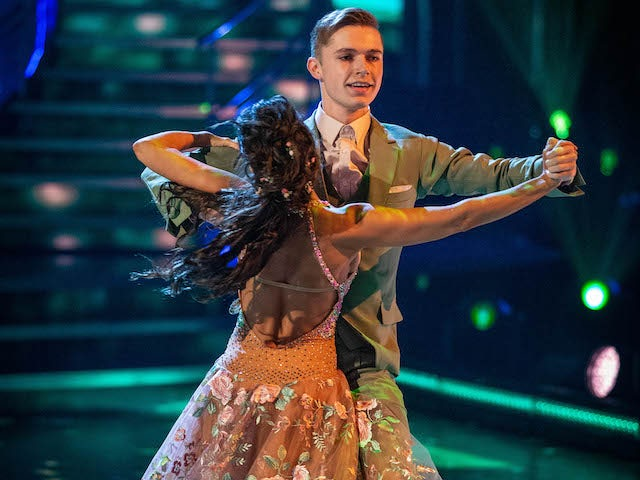HRVY and Janette Manrara on Strictly Come Dancing week two on October 31, 2020