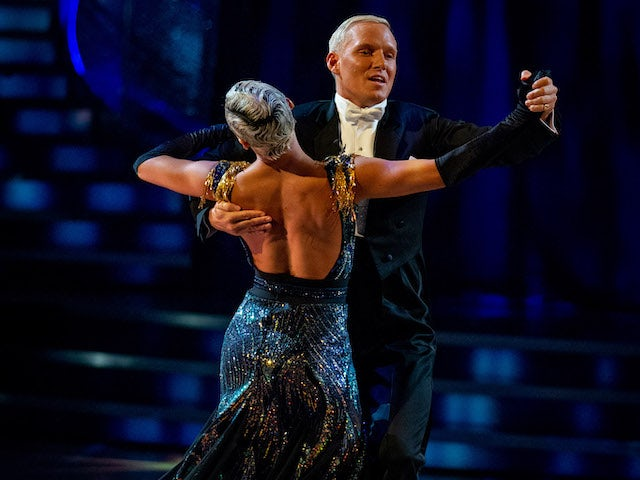 Jamie Laing and Karen Hauer on Strictly Come Dancing week two on October 31, 2020