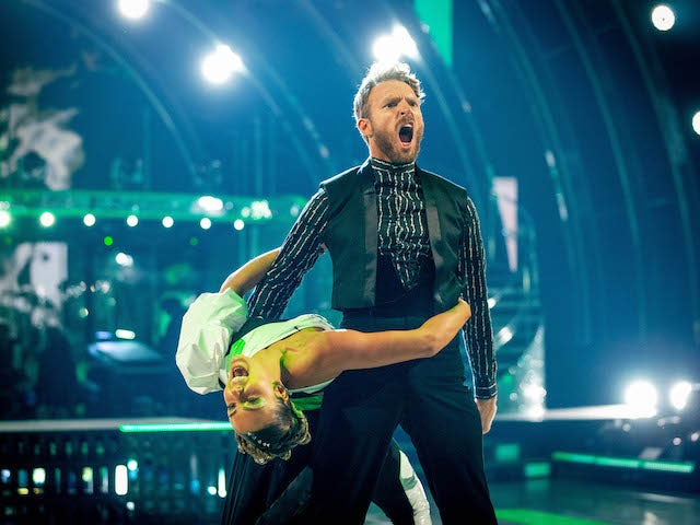 JJ Chalmers and Amy Dowden on Strictly Come Dancing week two on October 31, 2020
