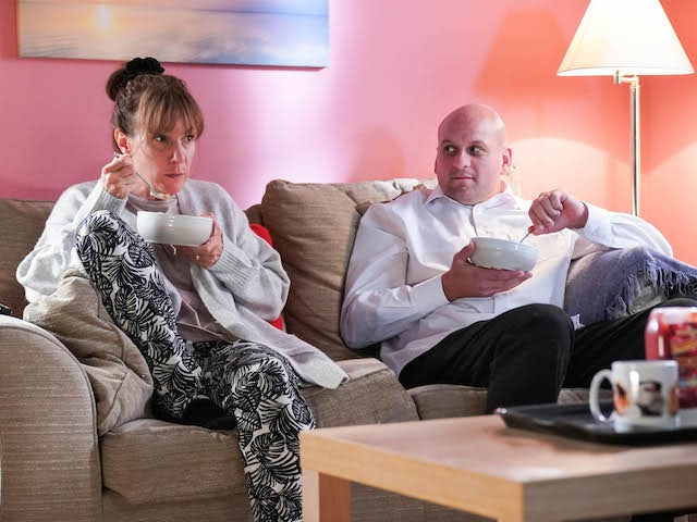 Rainie and Stuart on EastEnders on November 6, 2020