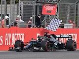 Mercedes driver Lewis Hamilton in action at the Emilia Romagna Grand Prix on November 1, 2020