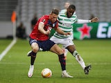 Lille's Sven Botman in action with Celtic's Olivier Ntcham in the Europa League on October 29, 2020
