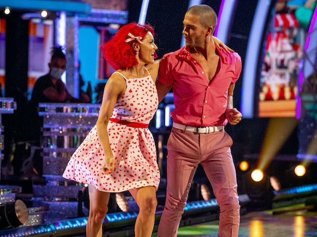 Max George and Dianne Buswell on Strictly Come Dancing week two on October 31, 2020