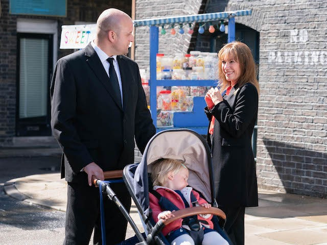 Stuart and Rainie on EastEnders on November 5, 2020
