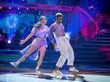 Nicola Adams and Katya Jones on Strictly Come Dancing week two on October 31, 2020