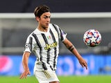 Juventus attacker Paulo Dybala in action against Barcelona in the Champions League on October 28, 2020