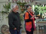 Prue Leith and Paul Hollywood on The Great British Bake Off