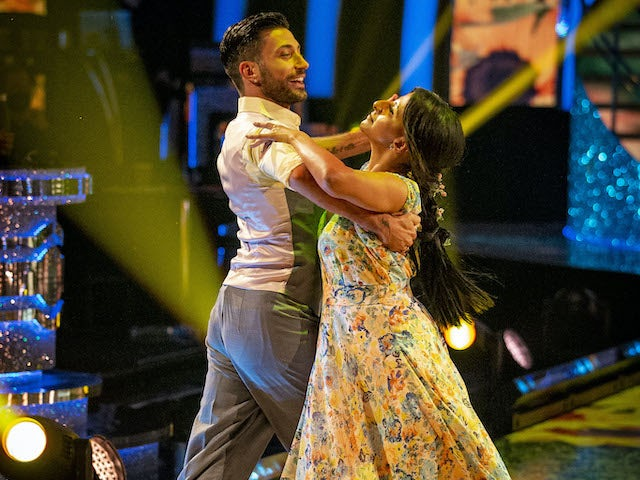 Ranvir Singh and Giovanni Pernice on Strictly Come Dancing week two on October 31, 2020