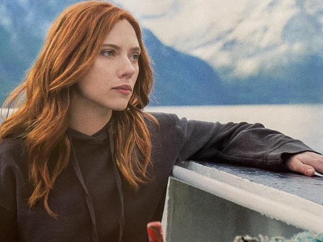 Scarlett Johansson in the Black Widow movie