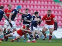 Scotland's Blair Kinghorn in action against Wales in the Six Nations on October 31, 2020