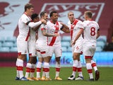 Southampton's Danny Ings celebrates scoring against Aston Villa in the Premier League on November 1, 2020