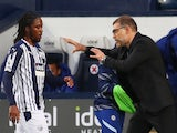 West Brom manager Slaven Bilic pictured with Romaine Sawyers in September 2020