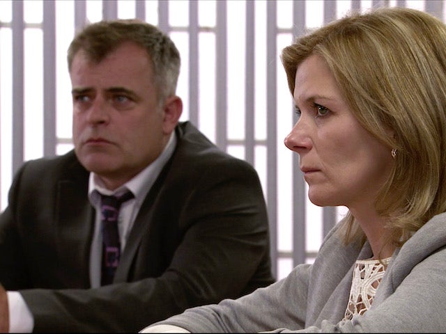 Steve and Leanne on the first episode of Coronation Street on November 9, 2020