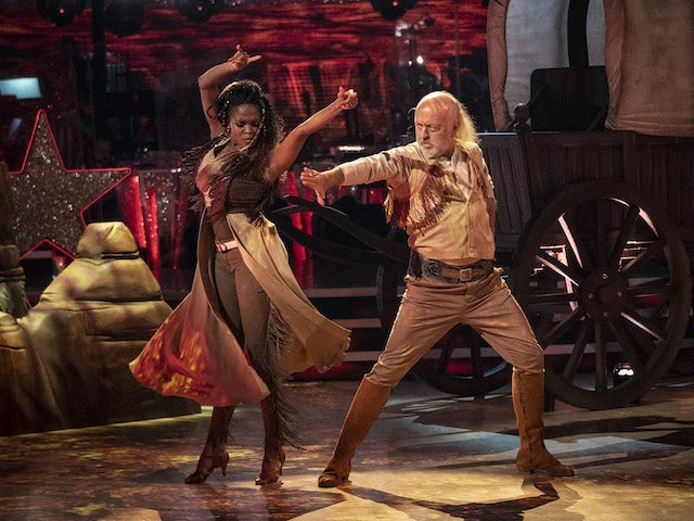 Bill Bailey and Oti Mabuse on Strictly Come Dancing week three on November 7, 2020
