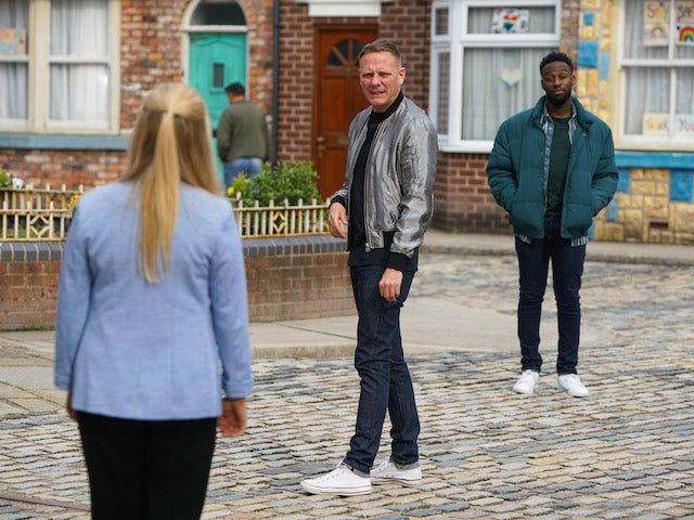 Sean and Michael on the first episode of Coronation Street on November 9, 2020