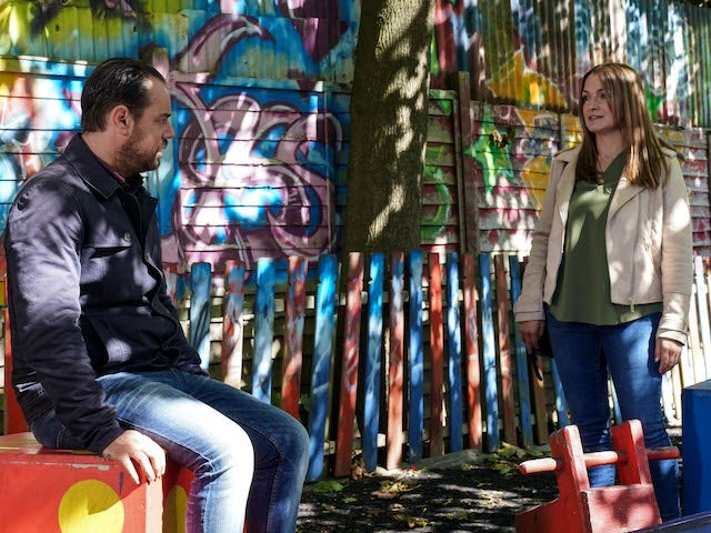 Mick and Katy Lewis on EastEnders on November 9, 2020