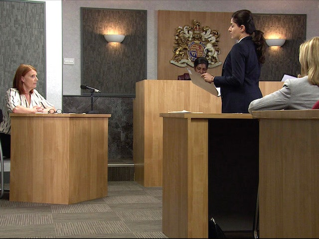 The court hearing on the first episode of Coronation Street on November 9, 2020